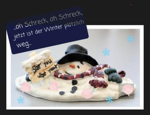 Der Winter verabschiedet sich….