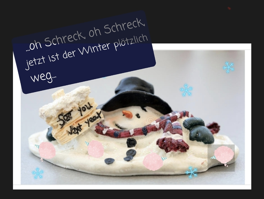 Geschmolzener Schneemann